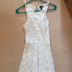 Aqua white laced dress